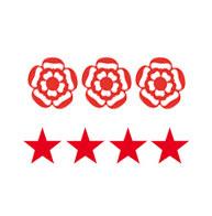 3 rosettes / 5 stars