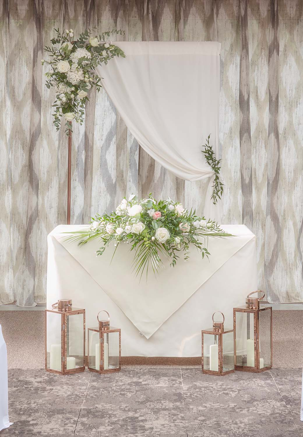 wedding altar at mallory court